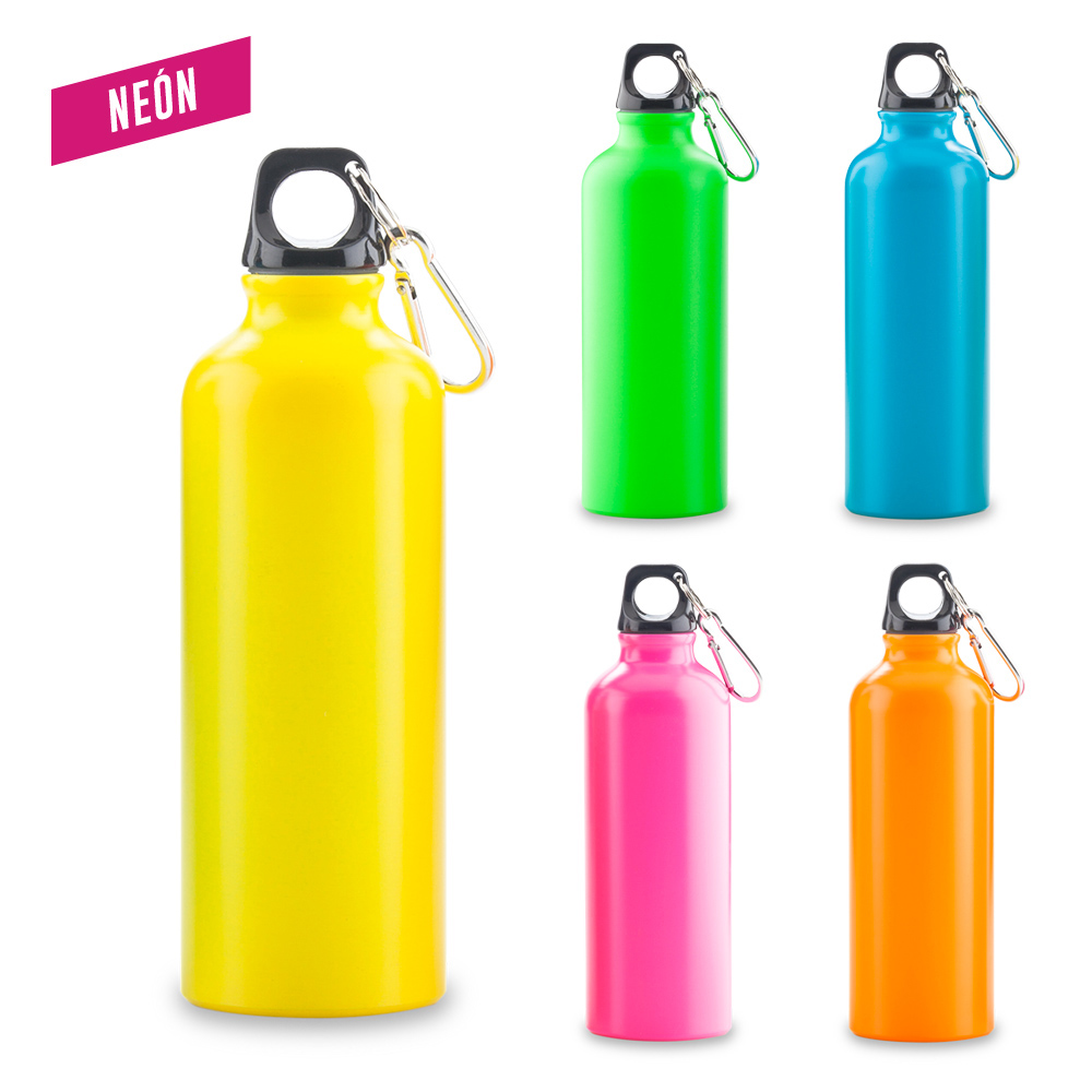Botilito Metálico Sport Bottle Neon - 500 ml.